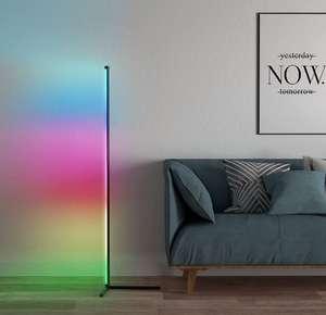Lámpara de pared de esquina minimalista, atenuación continua RGB