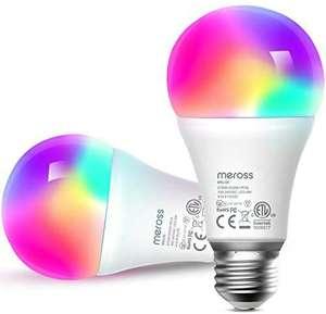 2 Bombillas LED RGB WiFi compatibles con Alexa, Google Home y SmartThings