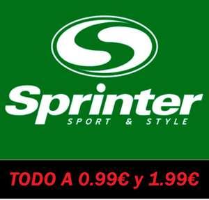 85 Productos a 0.99€ y 1.99€/Unidad en Sprinter