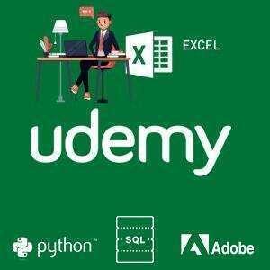 Cursos Excel, Photoshop, Power BI, Angular, Python, Git, MongoDB, Android, SQL y otros [Udemy]