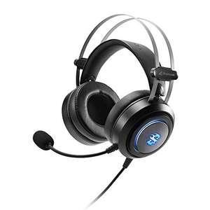 Sharkoon SGH30 - Auriculares Gaming con Cable, Estéreo, Micrófono, RGB, Negro