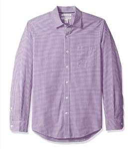 Camisa vichy algodón Amazon Essentials hombre talla S.