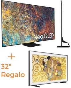 """Samsung 65"""" QN90A Neo QLED + Samsung 32"""" QLED FHD"""