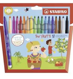 Stabilo Trio Frutti - Estuche de 18 rotuladores de punta mediana, tinta perfumada
