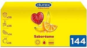 Durex Preservativos Saboreame con Sabores Afrutados - Pack 144 Condones