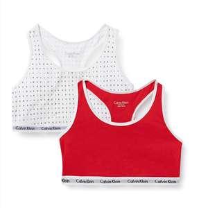 Pack dos camisetas-sujetadores Calvin Klein niña talla 10-12 años.