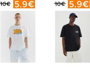 Selección camisetas en Pull & Bear a 5.99€