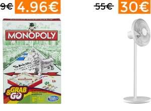 3 cholletes interesantes: Monopoly de viaje por 4,90€, Ventilador Xiaomi por 38€ y Tumbona por 19€