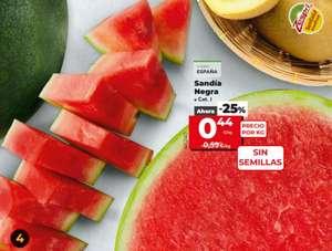 Sandía Negra Sin Semillas 0.44€/Kg