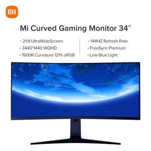 "Monitor Curvo Xiaomi 34"" [WQHD, SVA, 144Hz y 4ms][Desde España]"