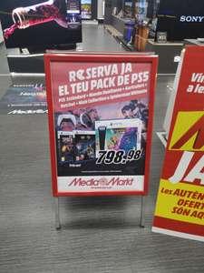 Playstation 5 con lector cd's en Mediamarkt Diagonal Mar Barcelona.
