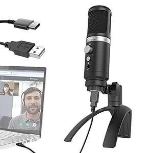 Micrófono PC Gaming, Moman EM1 Microphone PS4 Streaming Sobremesa