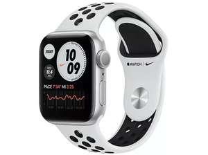 Apple Watch Nike Series 6, GPS, 40 mm, Caja de aluminio en plata, Correa Nike Sport Platino puro/negro