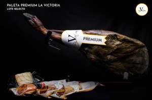Paleta premium La Victoria(5'50kg)+Chorizo 100% Bellota 600gr +Salchichón 100% Bellota 600gr + Lomo Bellota 100% 600gr +Queso Oveja curado