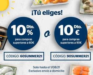 10% de descuento o 10€ de descuento en La Sirena ¡Tú eliges!