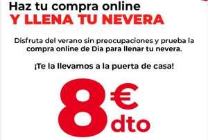 8€ Descuento en DIA en primera compra online