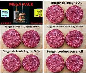 Mega Pack Burger Gourmet 4kg (20 hamburguesas)