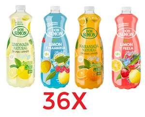 36X zumo natural 1,5L Don Simon solo 13€