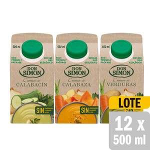 72 x Cremas de Verduras Don Simón 500ml por 18€
