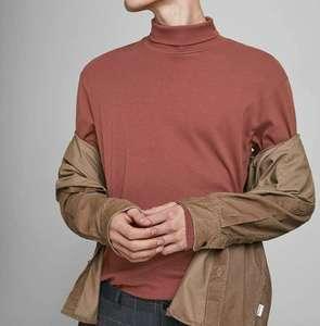 Camiseta manga larga y cuello vuelto Jack & Jones adulto talla L.