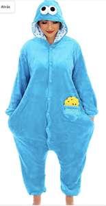 Pijama/mono de monstruo de las galletas.