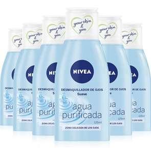 Pack de 6 NIVEA Desmaquillador de Ojos Suave 6x125 ml