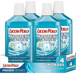 4 x 500ml (2.000ml) Licor del Polo Enjuague Bucal Frozen Senses Doble acción de frescor Sabor menta | sin stock temporal pero deja pedir