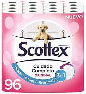Scottex Original Papel Higiénico - 96 Rollos (compra recurrente y al tramitar)