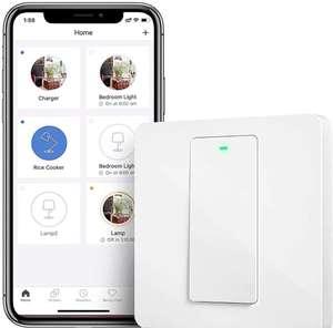 Interruptor de Pared Wi-Fi,1 Vía,1 Canal.compatible con Alexa, SmartThings