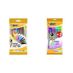 BIC Cristal bolígrafos Punta Ancha 10 unidades + Cristal Fun 6+2 unidades (18 en total)