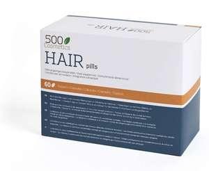 500Cosmetics Hair- Cápsulas Naturales para Prevenir y Evitar la Caída del Pelo con L-Cysteine y Zinc