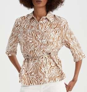 Camisa animal print DeFacto mujer tallas de la S a XXL.
