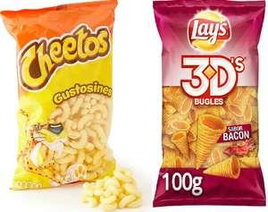 Cheetos Gustosines por 0,88€ y Lay`s 3D´s Bacon o Queso por 0,98€ (Descuentos al tramitar)