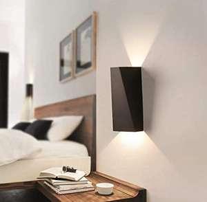 Luz de Pared LED 10W Aplique de Pared Negro Aluminio Rectangular