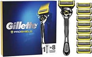 Gillette ProShield Maquinilla de Afeitar Hombre con Tecnología FlexBall + 9 Cuchillas de Recambio