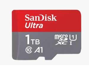SanDisk Ultra Tarjeta de Memoria microSDXC con Adaptador SD, hasta 120 MB/s, Rendimiento de apps A1, Clase 10, U1, 1TB