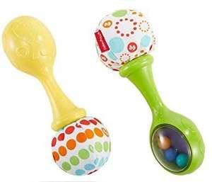 Fisher-Price Maracas musicales, juguete y sonajero para bebé +3 meses
