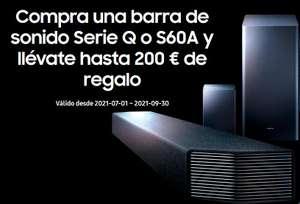 Preciazos en Barras de Sonido Samsung (descuento directo+reembolso de hasta 200€)