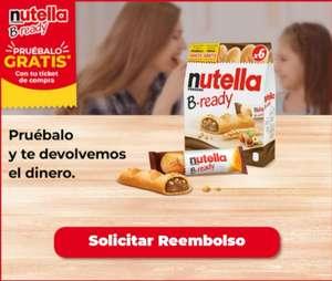 [Reembolso] Prueba GRATIS Los Palitos B- Ready de Nutella