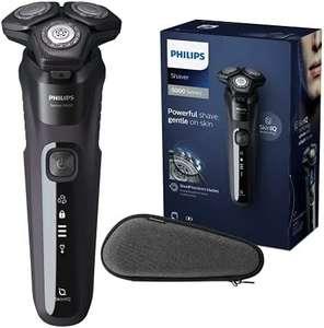Philips - Afeitadora eléctrica para hombre con tecnología Skin-IQ, cortapatillas integrado, seco/húmedo y funda de viaje premium