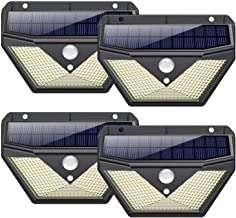 Pack 4 Luz Solar Exterior 136 LED con Sensor de Movimiento