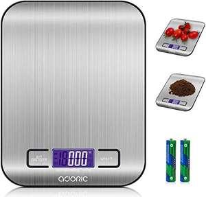 Báscula digital de cocina ADORIC Acero Inoxidable (pilas incluidas)