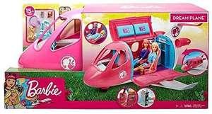 Barbie Avión de tus sueños, avión de juguete con accesorios para muñecas