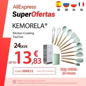 Juego de utensilios de cocina de silicona antiadherentes (12 piezas)