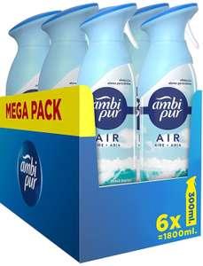 [Pack 6 x 300ml] Ambipur Ambientador Spray. Fragancia Brisa Marina (Mínimo)