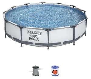 Bestway Piscina Desmontable Tubular Bestway Steel Pro Max 366x76 cm con Depuradora Cartucho 1.249 L/H