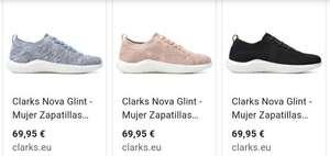 Zapatillas Clarks Nova Glint mujer desde 15,78€ (azul) 20,08€ (rosa) y 21,18€ (negro) según tallas