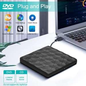 Lector CD/DVD grabadora Externa USB