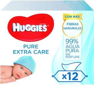 672x Toallitas Huggies Pure solo 9.7€