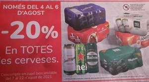 Ahórrate el 20% en un cupón en todas las cervezas en tienda